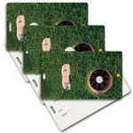 Custom Printed Privacy Luggage Tag W/ 3D Lenticular Images of Golf Ball (Blank)