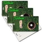 Custom Printed Privacy Luggage Tag W/ 3D Lenticular Images of Golf Ball (Custom)