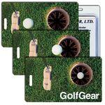 Luggage Tag - 3D Lenticular Golf Gear Stock Image (Blank Product) Custom Printed