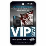 Admission VIP Pass/ Custom Four Color Lenticular Images and Effects Logo Branded