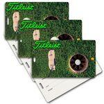 Privacy Luggage Tag W/ 3D Lenticular Images of Golf Ball (Imprinted) Custom Imprinted