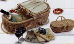 Wine & Cheese Eco Picnic Basket Custom Printed