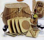 4 Person Eco Picnic Basket Custom Imprinted