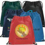 Custom Printed 80GSM Nonwoven Drawstring Backpack
