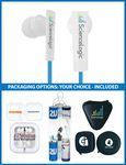The Symphony Stereo Earbuds with upgraded speakers and choice of packaging Custom Printed