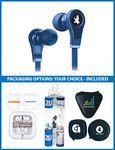 The Harmony Stereo Earbuds with upgraded speakers, choice of packaging Imprinted Logo