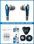 The Rhythm Stereo Earbuds with upgraded speakers and choice of packaging Custom Printed