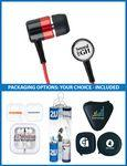 The Concert Stereo Earbuds with upgraded speakers and choice of packaging Imprinted Logo