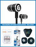 Logo Branded The Overture Stereo Earbuds with upgraded speakers and choice of packaging