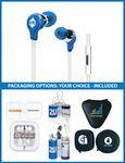 The Rockfest Stereo Earbuds with upgraded speakers and choice of packaging Imprinted Logo