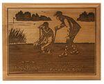 "Logo Branded Red Alder Lasered Wood Golf Plaque (9""x12"")"