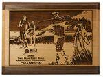 "Logo Branded Red Alder & Walnut Lasered Wood Golf Plaque (9""x12"")"