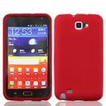 Custom Printed iBank(R) Red Galaxy Note Silicone Case
