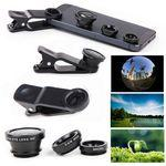 iBank(R)Universal Clip-on 3 in 1 Fisheye Wide Angle Camera Lens Custom Branded