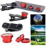Custom Branded iBank(R)Universal Clip-on 3 in 1 Fisheye Wide Angle Camera Lens