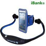 iBank(R) Wireless Bluetooth Headphones for Smartphones and Tablets + Sport Armband Custom Printed