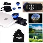 Custom Imprinted iBank® Universal Clip-on 3 in 1 Fisheye Wide Angle Camera Lens