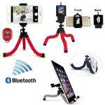 Custom Imprinted iBank® Universal Tripod + Bluetooth Shutter for Smartphones and Tablets