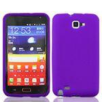 iBank(R) Purple Galaxy Note Silicone Case Custom Imprinted
