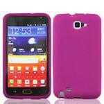 iBank(R) Pink Galaxy Note Silicone Case Logo Branded