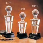 "Logo Branded 9"" Horizon Crystal Golf Award"