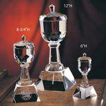 "Logo Branded 8"" Trophy Cup Crystal Award"