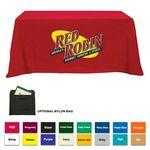 Poly/ Cotton Twill 3 Sided Flat Screen Printed Table Cloth (Fits 6' Table) Custom Printed