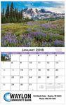 Logo Printed 2018 American Scenic Stapled Wall Calendar