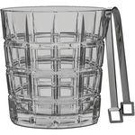 Logo Branded Marquis by Waterford Crosby Ice Bucket with Tongs
