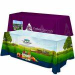 Custom Imprinted Polyester 4 Sided Flat Table Cover w/ All Over Full Color (Fits 8' Table)
