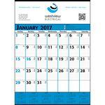 Blue & Black Commercial Monthly Planner 2018 Custom Printed