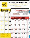 Personalized Yellow & Black Commercial Monthly Planner 2018