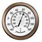 Bulova Temp-A-Light Indoor/Outdoor Lighted Wall Clock & Thermometer Custom Imprinted