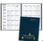 "2018 Monthly Format Wired to Two-Piece Cover Desk Planner (7 7/8""x11 7/8"") Custom Imprinted"