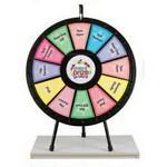 12 to 24 Adaptable Table Top Prize Wheel Logo Branded