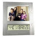 Custom Imprinted Picture Frame w/ Clock and Calendar