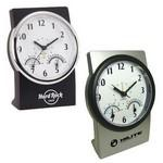 Multi Function Desk Clock w/ Temp & Humidity Logo Printed
