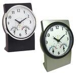 Branded Multi Function Desk Clock w/ Temp & Humidity