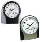 Multi Function Desk Clock with Temp & Humidity Logo Printed