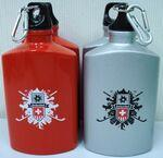 20 Oz. Aluminum Canteen with Carabiner - Silver or Blue Custom Printed