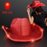 Red Sequin Cowboy Hat Branded