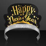 """Happy New Year"" Paper Crown Tiaras (NON-Light Up) Custom Imprinted"