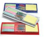 Custom Printed Combination Ruler w/ Sticky Notes/ Flags/ Paper Clip Tray