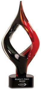 Red/Black Twist - Art Glass - Premier Crystal - 13-1/4