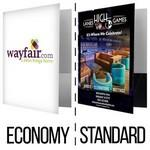 Custom Imprinted POCKET FOLDER | Economy & Standard Print Coverage Options (FREE SETUP!) **Price Includes 4-COLOR