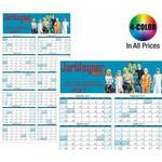 Logo Branded WALL CALENDAR: Jumbo Size Year-at-a-Glance, Dry Eraser Friendly w/ 4-Color Custom Graphics Included
