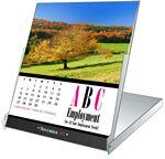 "Nature, Floral or Seasonal Stock Photo Desk CD Case Calendar - 4 5/8""x5 7/16"" Custom Imprinted"
