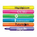 Custom Imprinted Brite Spots Fluorescent Barrel Jumbo Highlighter - USA Made