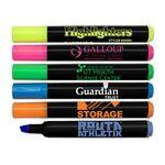 Brite Spots Black Barrel Jumbo Fluorescent Highlighter Custom Imprinted