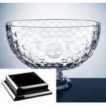 Custom Engraved Royal Golf Bowl on a Black Base - Italian Lead Crystal